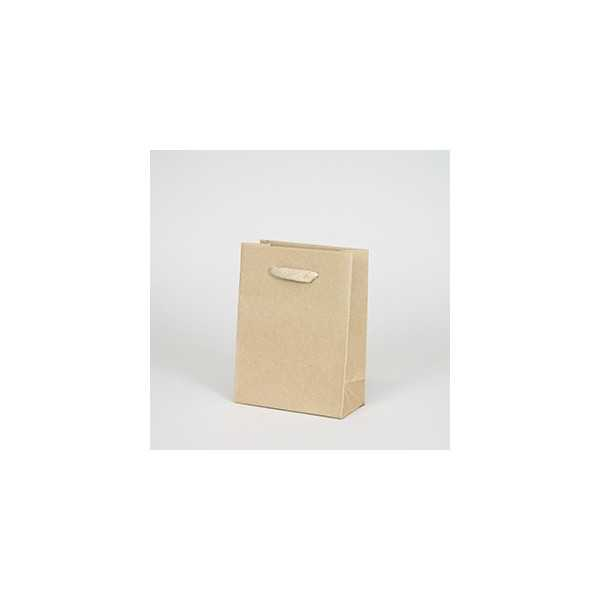 Recycled kraft bag (12x16x6cm)