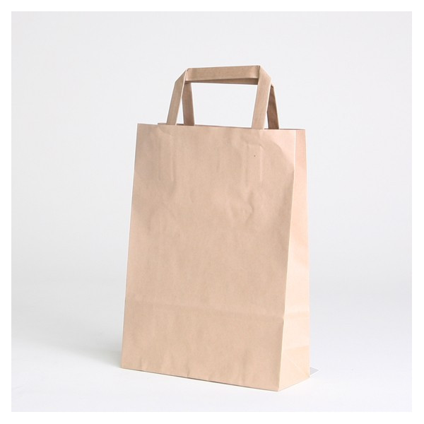 Brown kraft flat handles bag