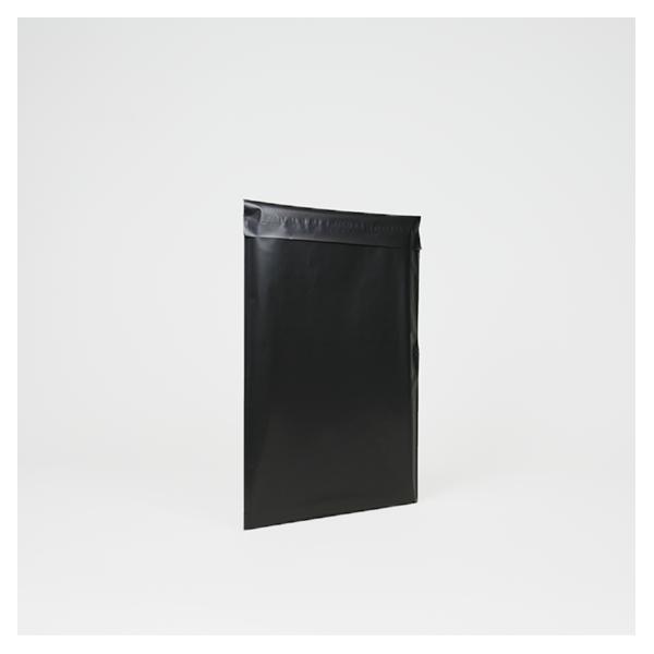 Black matte synthetic pouch